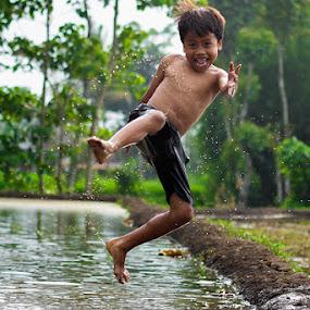 jumping by Haris Fallin - Babies & Children Children Candids