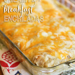 Cheesy Breakfast Enchiladas.