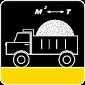 Calculator bulk materials. icon