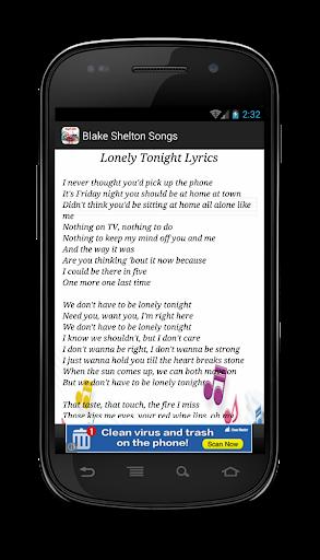 【免費音樂App】Blake Shelton Lonely Tonight-APP點子