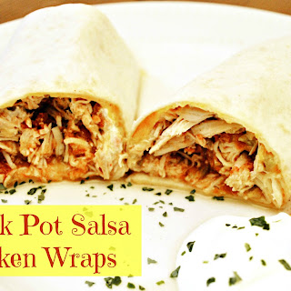 Salsa and Green Chili Chicken Wraps