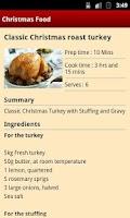 Screenshot of Christmas Food