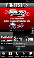 Screenshot of WGR – Sports Radio 550