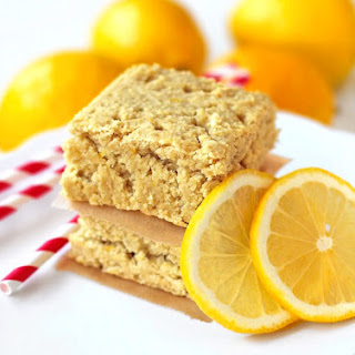 Lemon Blondies with Lemon Curd Frosting