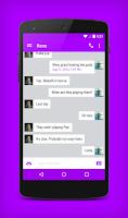 Screenshot of EvolveSMS Theme Purple Accents