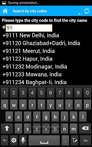 World Dialing Codes Screenshot