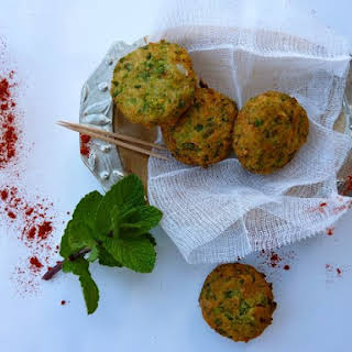 Mint and Pea Falafel.