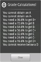 Screenshot of GPA & Final Exam Calculator