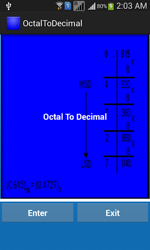 Octal to Decimal Number Finder