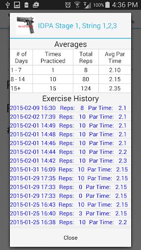 Dry Fire Par Time Tracker 1.96 screenshots 4