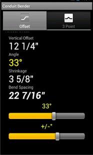 Conduit Bending Calculator - screenshot thumbnail