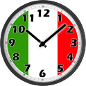 Italy Flag Analog Clock logo