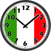 Italy Flag Analog Clock