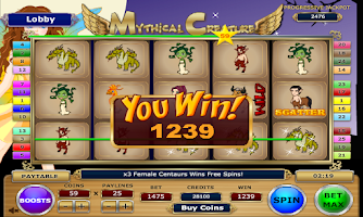 Screenshot of Mythical Creature Slots