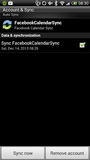 Calendar Sync for Facebook
