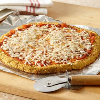 Gluten-Free Cheese Pizza with Cauliflower Crust.
