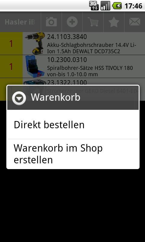 Hasler iBar- screenshot