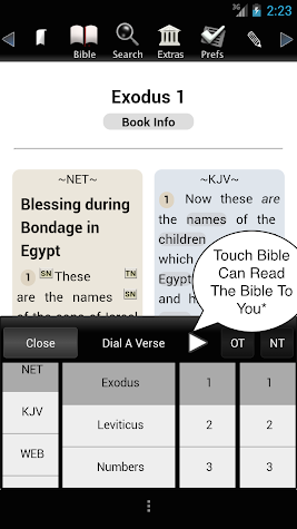 Touch Bible Loaded-Audio Bible Screenshot