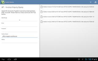 Screenshot of OnBase Mobile