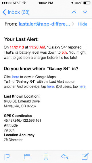 Last Alert Pro Find Your Phone - screenshot