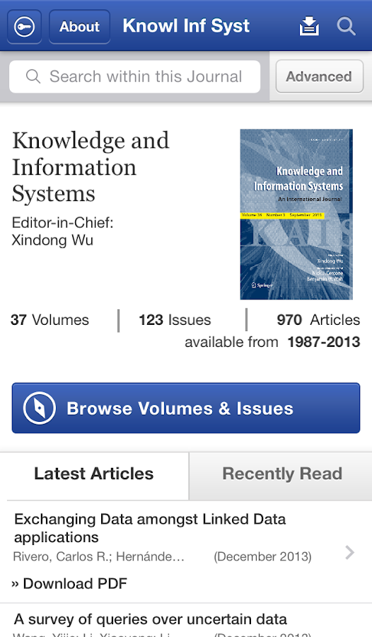 Knowledge and Inf Systems - screenshot
