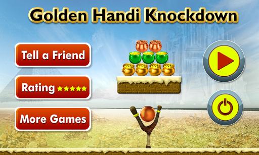 Golden handi Knock down game