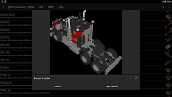 Screenshot of Buf3D 3d and lego model viewer