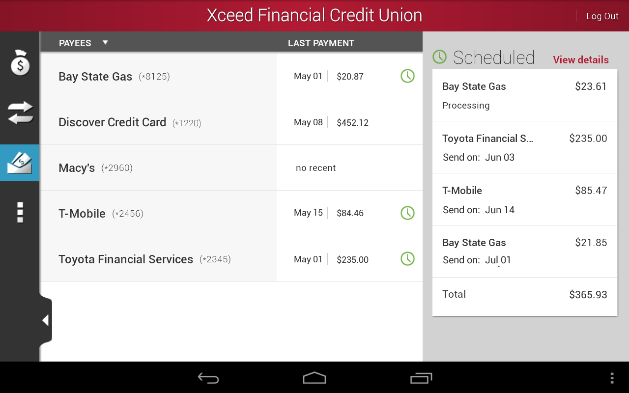 Xceed Mobile- screenshot