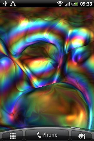 五顏六色的波浪還是那麼自由自在