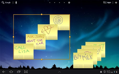 Sticky Notes HD Tablet Widget. Screenshot 3