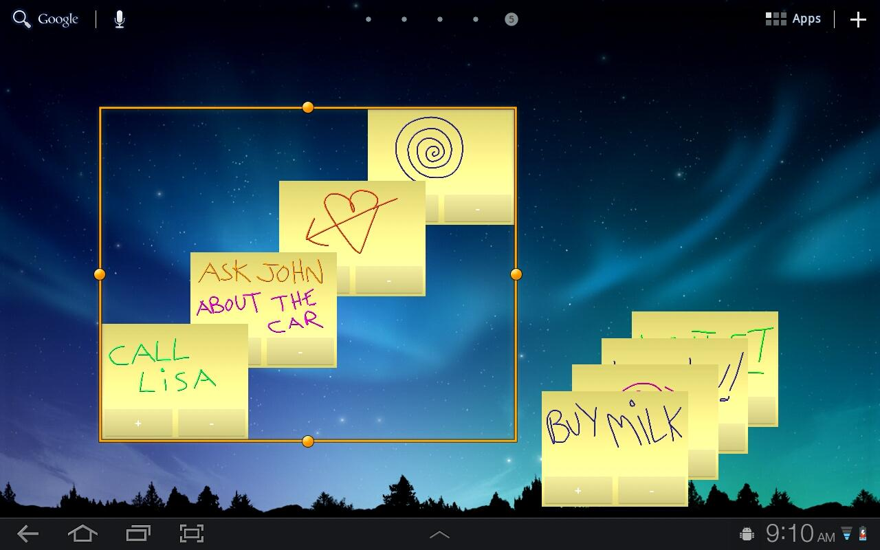 Sticky Notes HD Tablet Widget. - screenshot