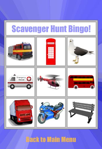 Scavenger Hunt Bingo