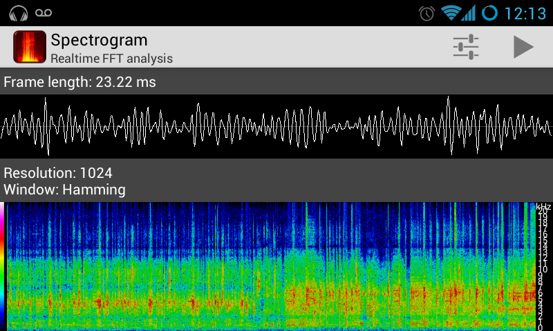 Spectrogram- screenshot