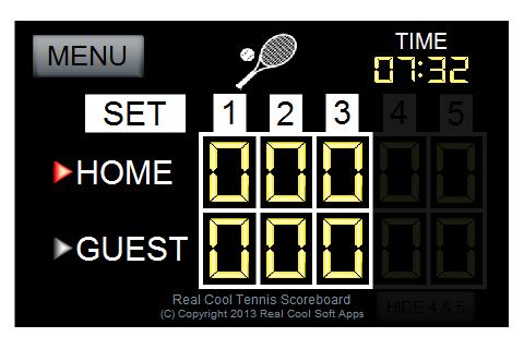 Real Cool Tennis Scoreboard