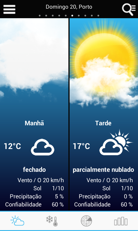 Weather for Portugal - screenshot