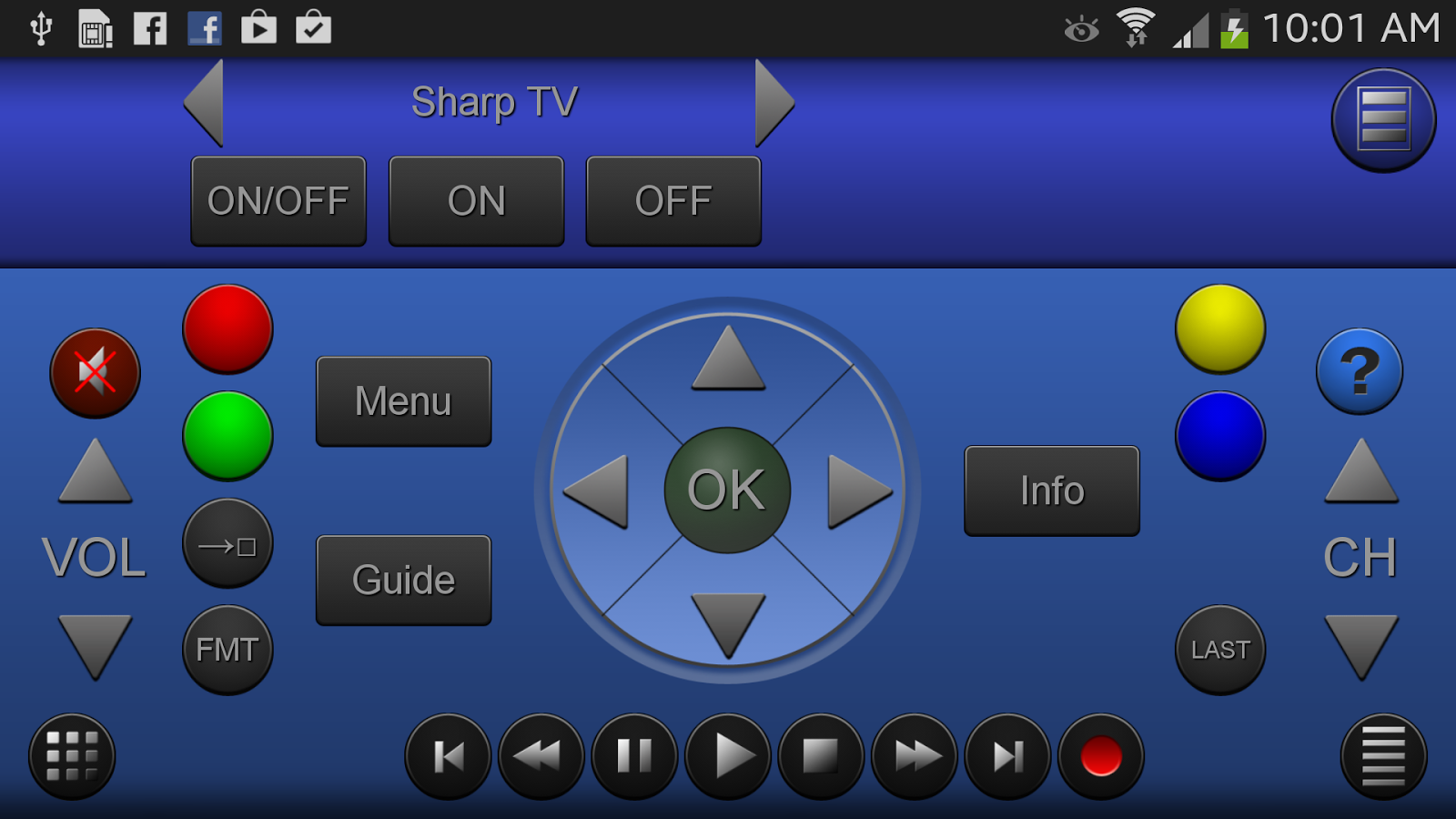ZappIR TV Remote PRO - screenshot