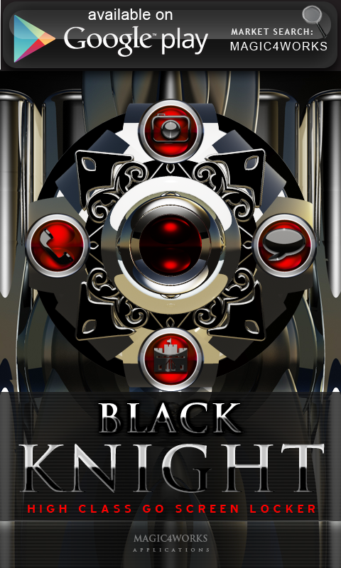 Black Knight Clock Widget - screenshot
