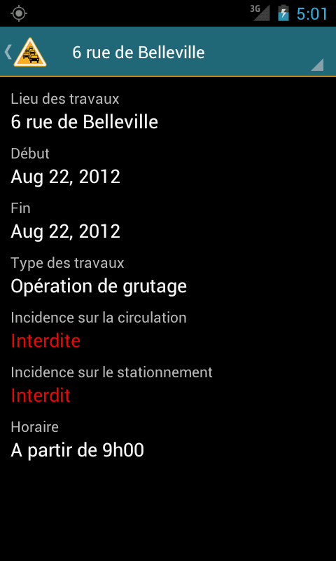 Info Trafic Nantes - screenshot