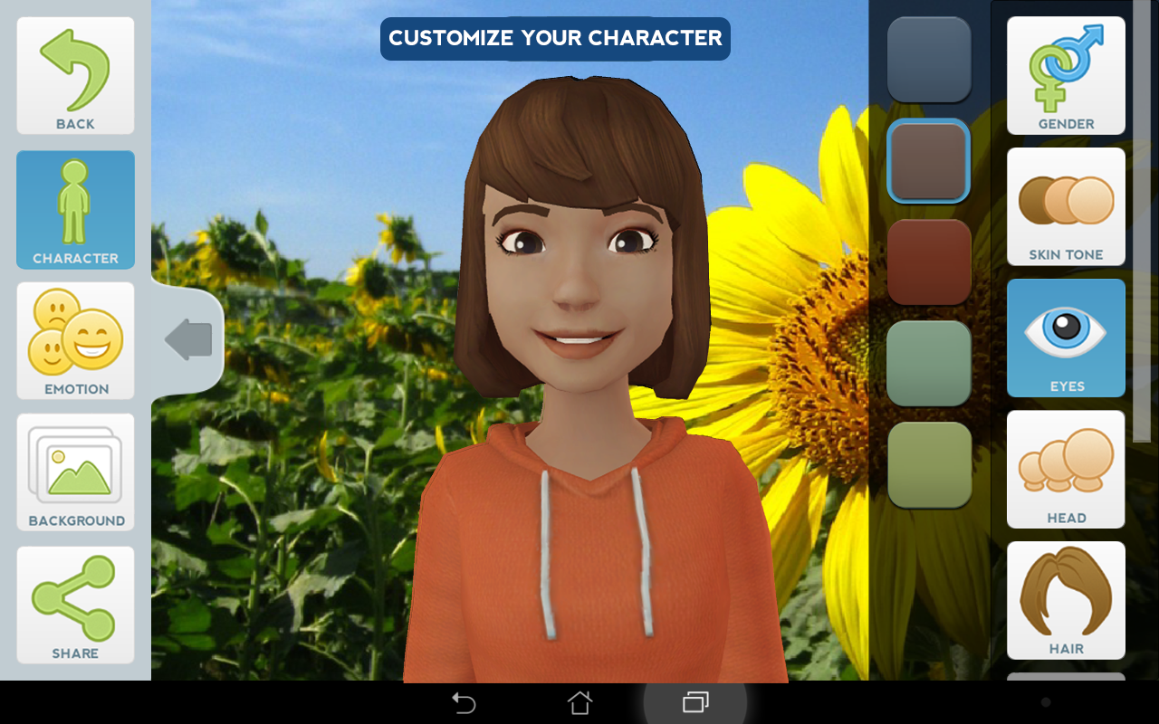 Tellagami- screenshot