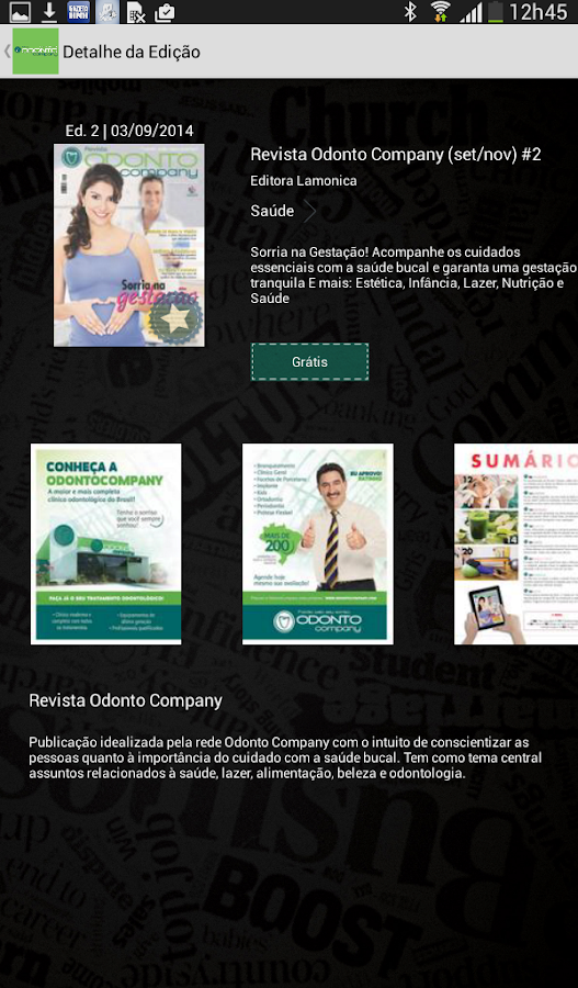 Revista OdontoCompany- screenshot