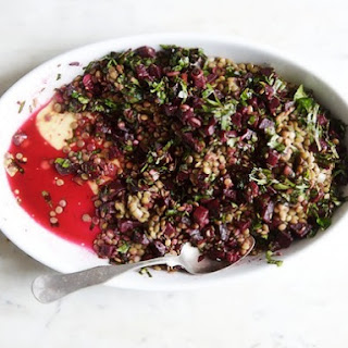Lentils with Roasted Beets.