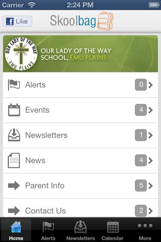 Our Lady of the Way - Skoolbag - screenshot