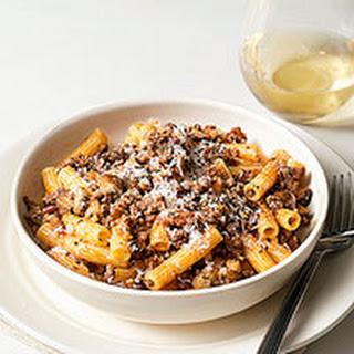 Bacon, Beef & Mushroom Ragu with Macaroni
