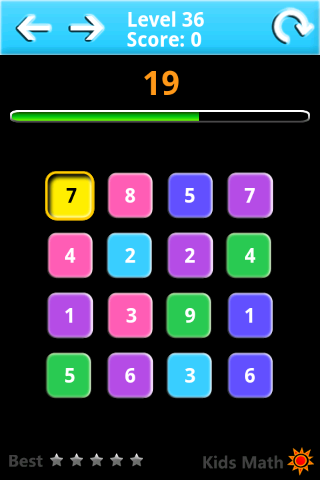 Kids Math Game Lite- screenshot