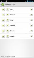 Screenshot of Make My List: To Do/Grocery