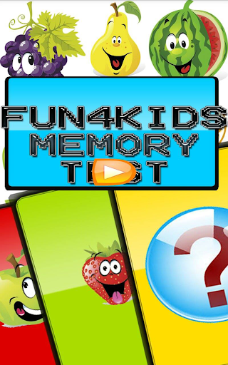 fun 4 kids memory test