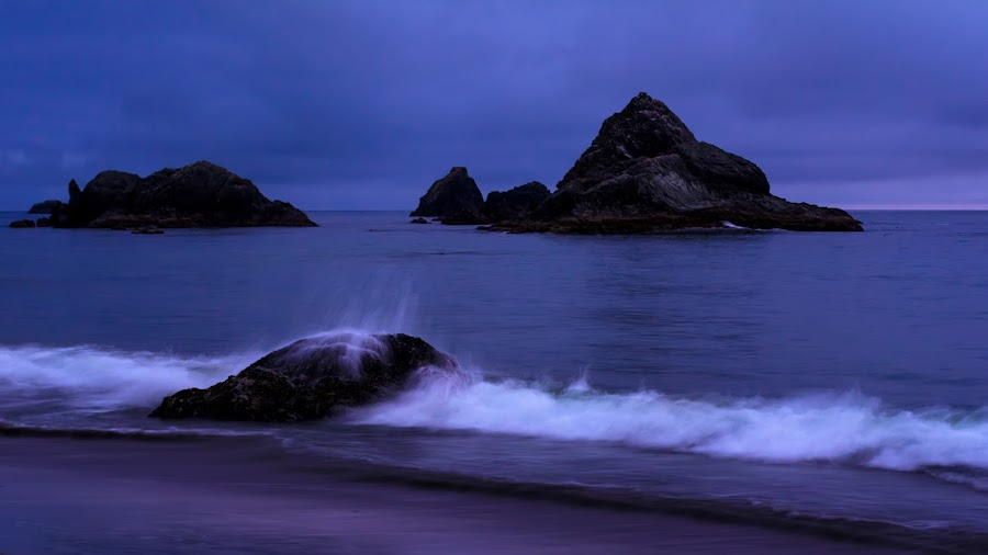 Oregon Coast by Keith Boone - Landscapes Waterscapes ( oregon, waterscape, blue hour, seascape, landscape )