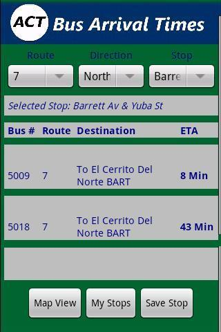 AC Transit Bus Tracker Pro- screenshot