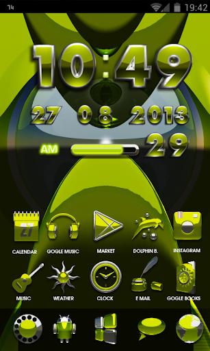 生活必備APP下載|GO Launcher Theme Breeze 好玩app不花錢|綠色工廠好玩App