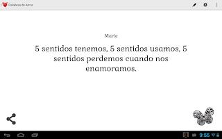 Screenshot of Palabras de Amor